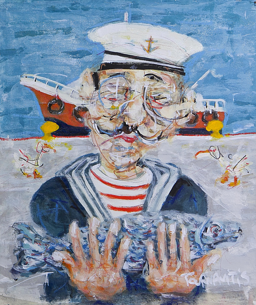 5.Sailor, 54x46cm, oil on canvas