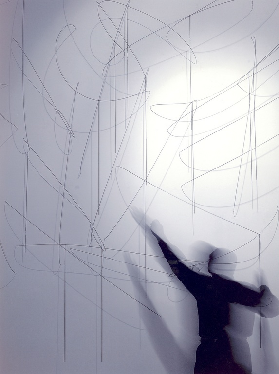 As above so below, iron rods, 400X400X85cm, (overall), 2003