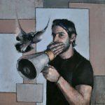 "KROMA Achilleas Pistonis ""Omen"", 50x50cm, oil on canvas"