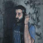 "KROMA Dimitris Angelopoulos ""Self Portrait"", 95Χ65 cm, Oil on Canvas"