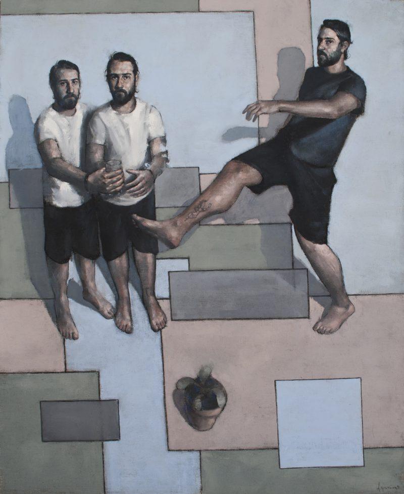 "KROMA Achilleas Pistonis ""Thirst"", 170Χ140cm, oil on canvas"