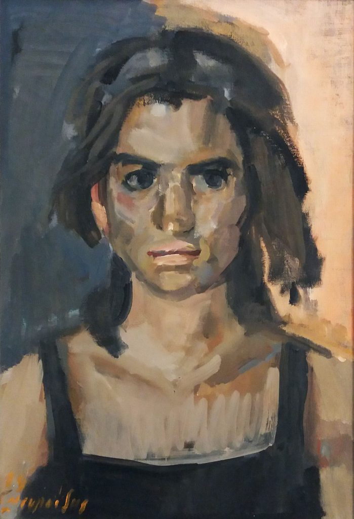 KROMA / G. Mavroidis / Girl Portrait / oil on canvas / 40x30cm / 1989
