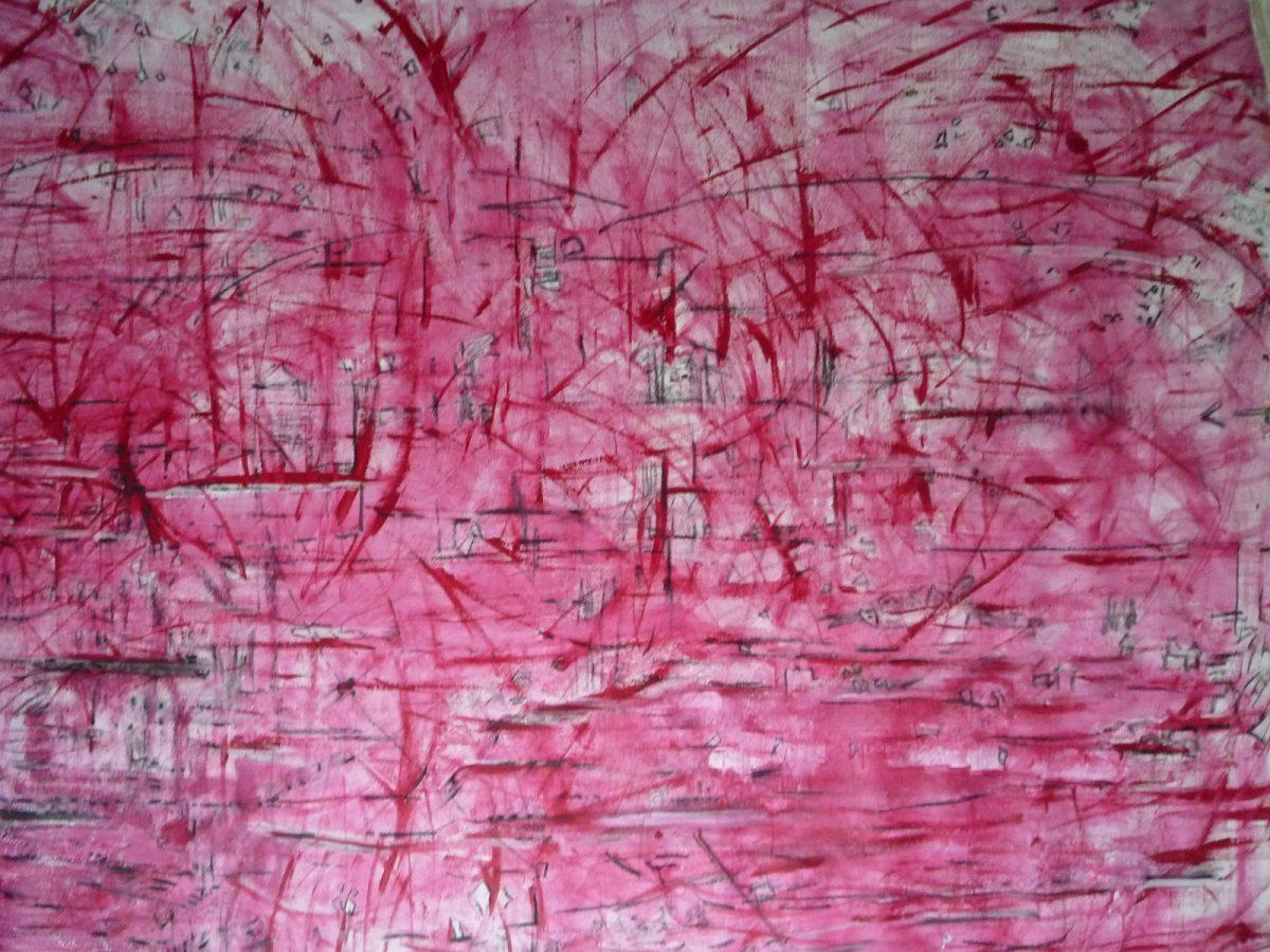 KROMA/Κλεονίκη Μαραγκού_ Kleoniki Maragkou, Άτιτλο, oil on canvas- mixed media,1.80x2.00m