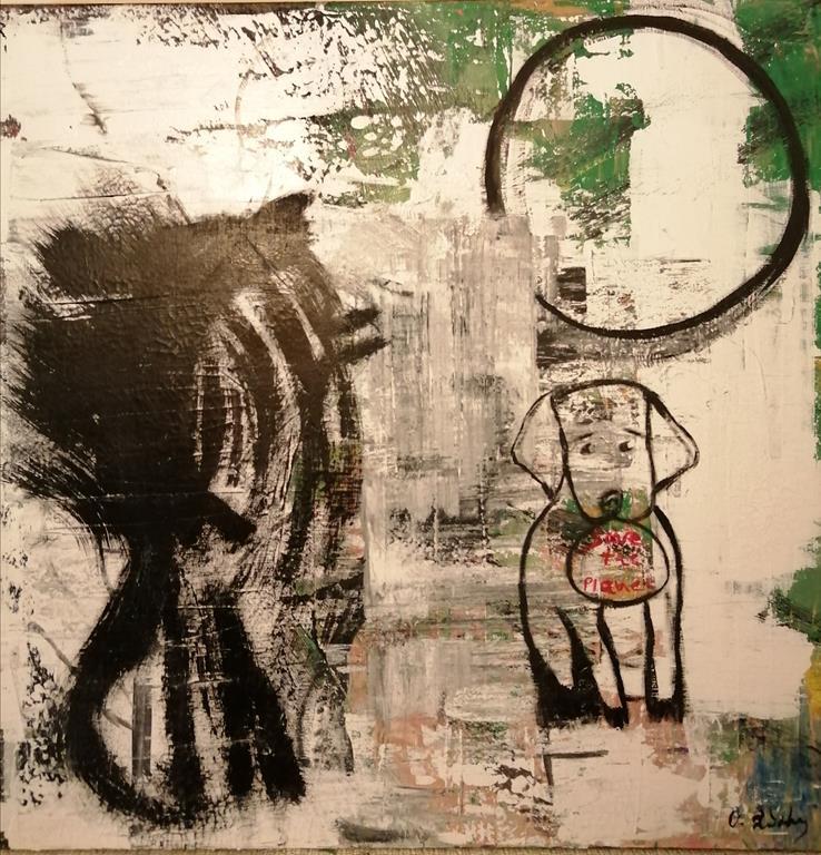 KROMA / Olga Xithali, Save the planet, 80x80cm